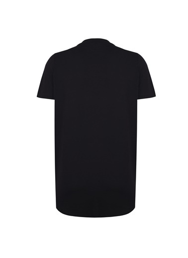 Deux Beautés Leila Bisiklet Yaka T-Shirt Siyah
